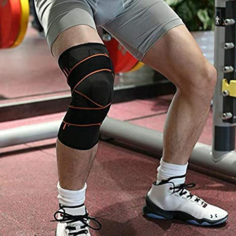 Lazzon Genouill/ère Rotulienne pour Sport Ligamentaire Arthrose Articul/é Marche Tendinite Neoprene Attelle Genou Volley Compression Crossfit Basketball