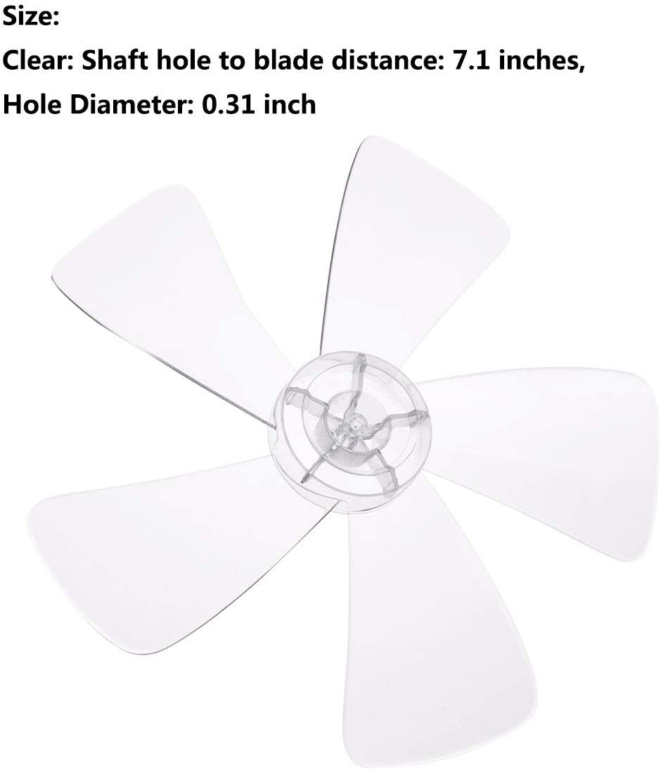 iiniim Plastic Standing Pedestal Fan Blade Replacement Household Five Leaves Blade, 16 Inch Clear One Size Clear