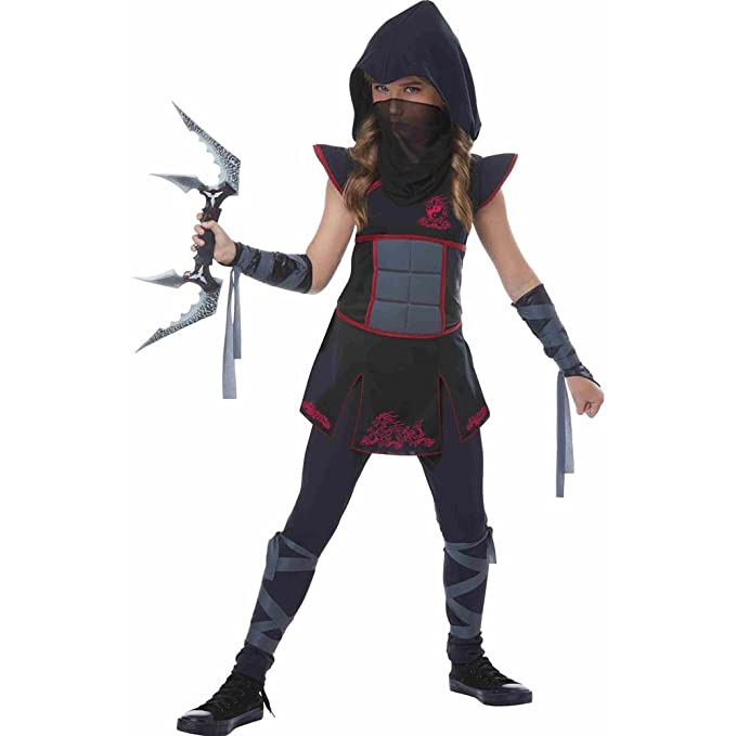 California fancy dress costumes womens girls black ninja fancy dress california fancy dress costumes womens girls black ninja fancy dress costume small amazon toys games solutioingenieria Images