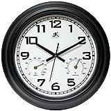 Infinity Instruments Garden 18'' Metal Outdoor Clock
