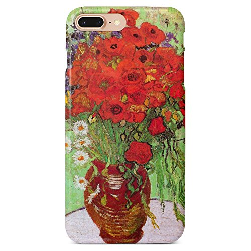 Monarque iPhone Case with Smooth Premium Durable Scratch-Resistant TPU Material with Poppies Design Fit For iPhone 6 Plus iPhone 7 Plus iPhone 8 Plus