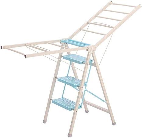 Escalera de seguridad, muchos escalones, bandeja multifunción, escalones profundos, percha multifuncional Taburete de doble uso para interiores Taburete de escalón (color: rosa, tamaño: 50 * 85.5 cm): Amazon.es: Hogar