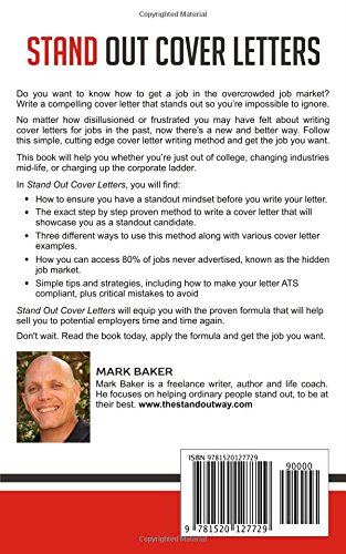 Stand Out Cover Letters: How To Write Winning Cover Letters That Get You  Hired: Mark Baker: 9781520127729: Amazon.com: Books  Cover Letters That Stand Out