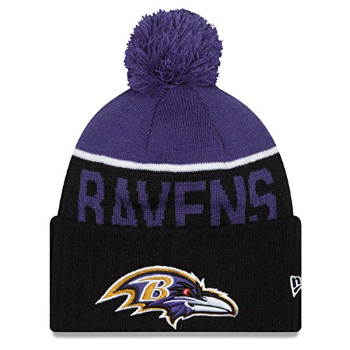 Baltimore Ravens 2015 Sport Knit Cuffed Pom Knit Cap / Beanie
