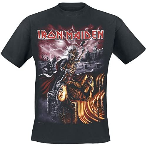 5b97c1a729c durable modeling Iron Maiden Transsylvania Camiseta Negro ...