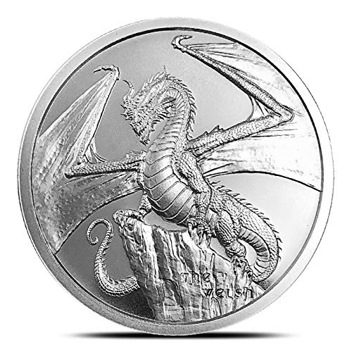 The Welsh 1 oz Silver Round World of Dragons Series