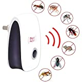 Ultrasonic Pest Repeller Electronic Pest Control Reject Plug Non-Toxic Eco-Friendly for Mosquitoes, Bugs,Cockroach,Spiders,Mice,Roaches,Fleas
