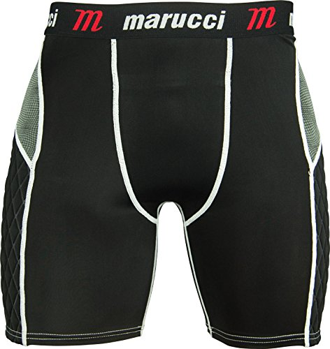 Marucci Adult Elite Padded Slider Shorts, Large, Black