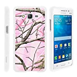 Grand Prime Phone Case, Perfect Fit Cell Phone Case Hard Cover with Cute Design Patterns for Samsung Galaxy Grand Prime SM-G530H, SM-G530F (Cricket) from MINITURTLE | Includes Clear Screen Protector and Stylus Pen - Pink Hunter Camouflage