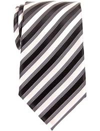 Retro Three-Color Striped Woven Microfiber Men's Tie - Various Colors