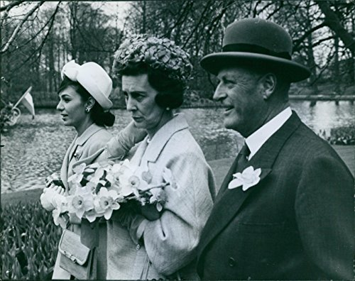 Marines Path (Vintage photo of A photo of Princess Alexandra (left) beside Princess Marina of Kent and King Olav (right) walking while looking to the path.