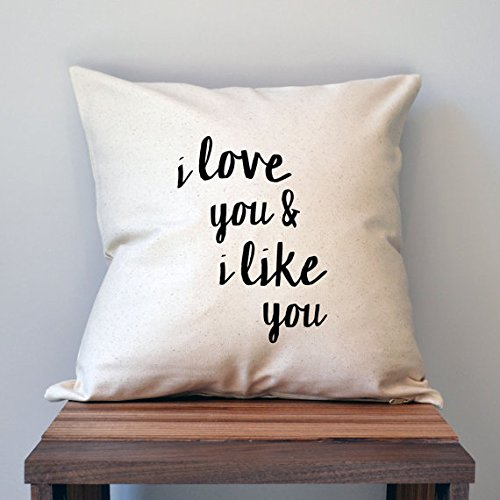 I love you and I like you Pillow Cover, Pillow Cover, Pillow Cover, 16x16, Love - Print Cheetah Vans