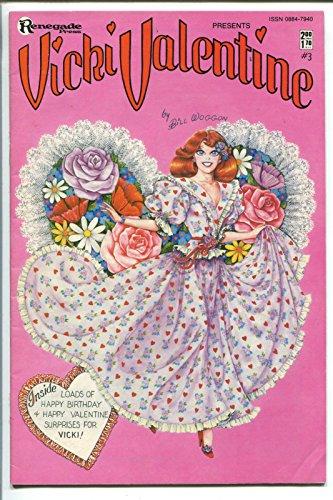 Barb Paper - VICKI VALENTINE #3 1986- BILL WOGGON-BARB RAUSCH-PAPER DOLLS-FASHION-fn+