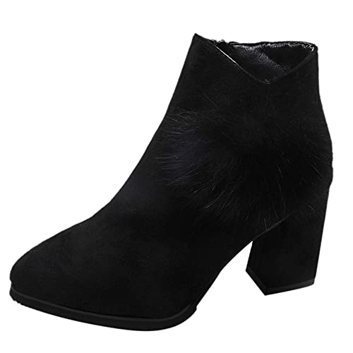 Manadlian Zapatos de Mujer Botas de Mujer Sexy Botines de Mujer Zapatos de Mujer Tacones Altos Plataforma Thin Heel con Cordones Corto Botas: Amazon.es: ...