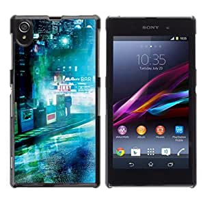 Lmf DIY phone case [Dark Sci Fi City Photo] Sony Xperia Z1 L39h CaseLmf DIY phone case