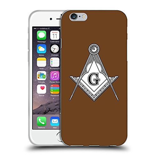 GoGoMobile Coque de Protection TPU Silicone Case pour // Q08190633 Franc-maçonnerie 1 Sépia // Apple iPhone 7