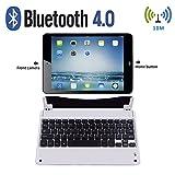 Wireless Keyboard, iPad Air 2 case with Keyboard, Bluetooth Keyboard (with Auto Wake / Sleep) for Apple iPad Air 2 by KEY IDEA (Sliver)