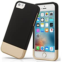 iPhone 5S case, iPhone SE Case, Asstar Slider Case 2-Part two colors Polycarbonate Combination Designed Protective Hard Cover for the Apple iPhone 5 / 5S / SE (BLACK)