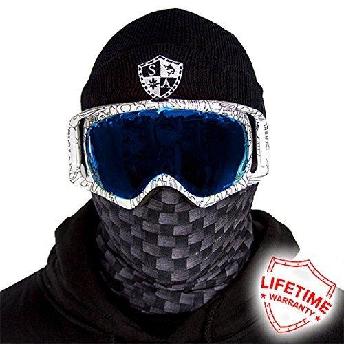 Mask Carbon Fiber (Thermal Winter Fleece Face Mask Snow Snowboard Shield Protective Balaclava Alpha Defense Salt Armour (Carbon Fiber))