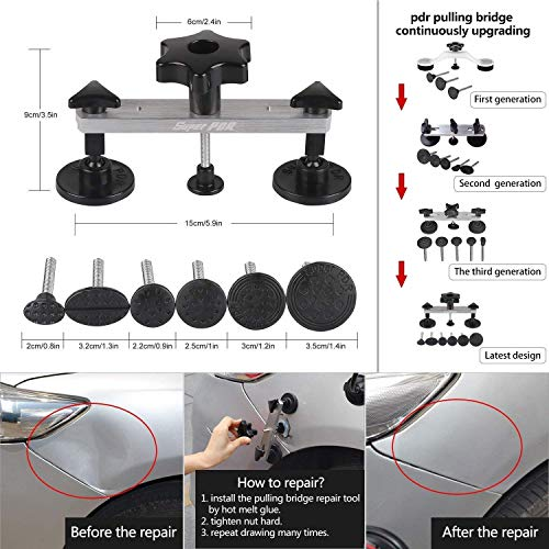 AUTOPDR 52Pcs Dent Repair Kit,Professional Dent Puller Kit,PDR Tools 52Pcs Dent Remover for Car Body Dent Repair Kit by AUTOPDR (Image #2)