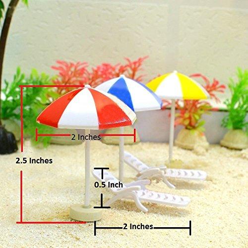 Miniature Realistic Beach Umbrella with Beach Chair Perfect