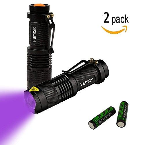 Fsmart Flashlight Detector Ultraviolet Batteries 1 product image