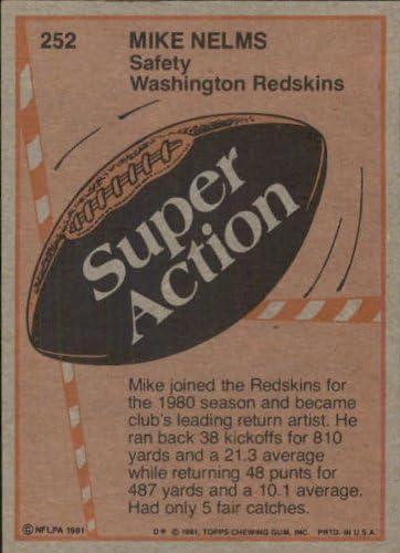 1981 Topps Football Card #252 Mike Nelms