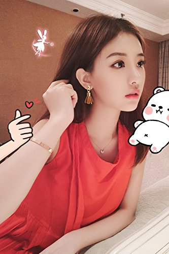 Generic Korea lovely ladies Beautiful temperament Harajuku School tassel earrings earrings ear jewelry earrings small women girls lady retro