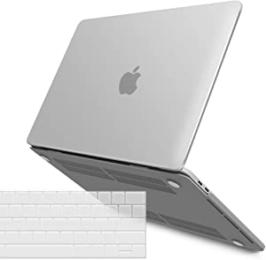 IBENZER MacBook Pro 15 Inch Case 2019 2018 2017 2016 A1990 A1707, Plastic Hard Shell Case with Keyboard Cover for Apple Mac Pro 15 Touch Bar, Frost Clear, T15CL+1A