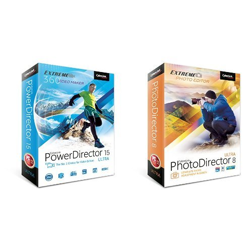 CyberlinkPowerDirector 15 Ultra and PhotoDirector 8 Ultra bundle