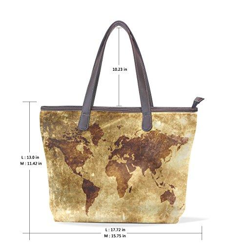 old world map bag - 9