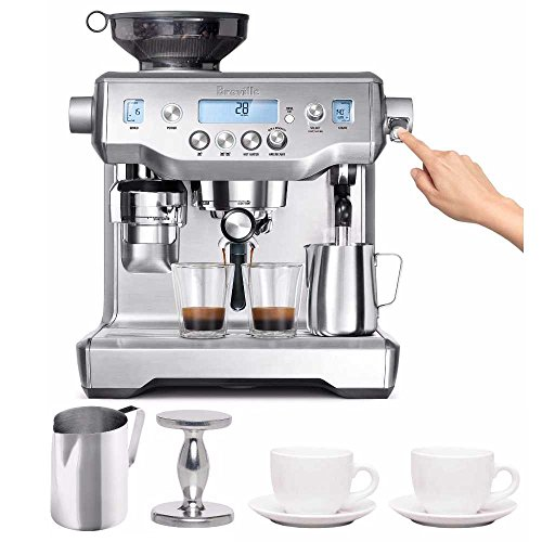 Breville BES980X The Oracle Espresso Machine + Frothing Pitcher, Handheld Tapmer, And Tiara Cups