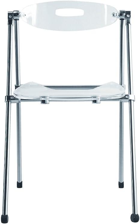 Nova muebles grupo 9232-clear acrílico silla plegable, transparente: Amazon.es: Hogar