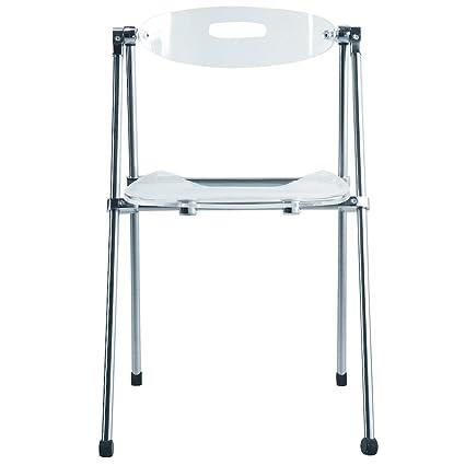 Amazon.com: Nova Furniture Group Acrylic Folding Chair, Clear: Home ...