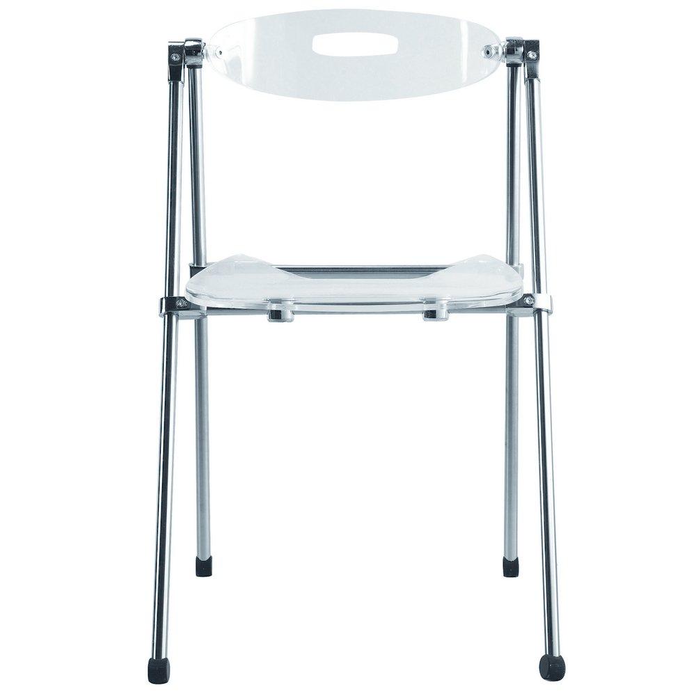 Nova Furniture Group 9232-clear Acrylic Folding Chair, clear