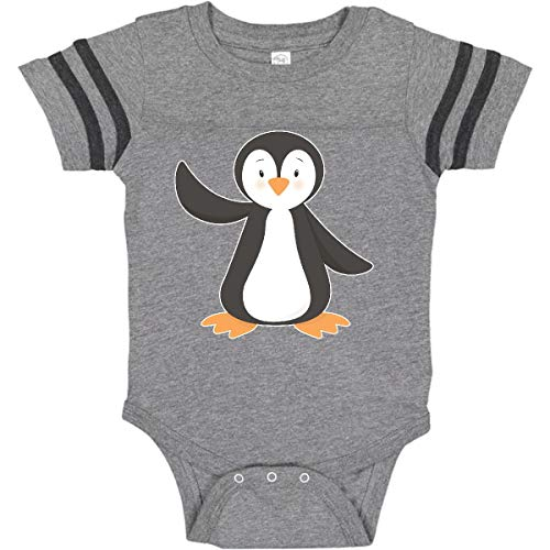(inktastic - Penguin Infant Creeper 6 Months Football Heather and Smoke 273ee)