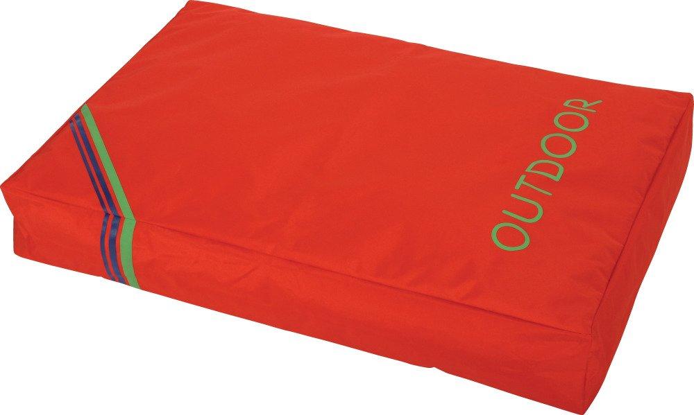Zolux Coussin Déhoussable Outdoor en Polyester pour Chien Corail 90 x 61 x 20 cm 409327COR