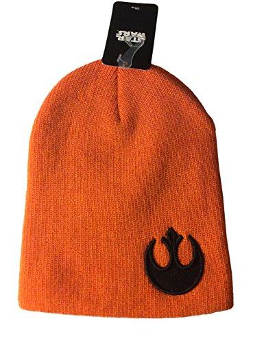 Star Wars Rebel Alliance Patch Orange Slouch Beanie Knit Hat Costume Accessory