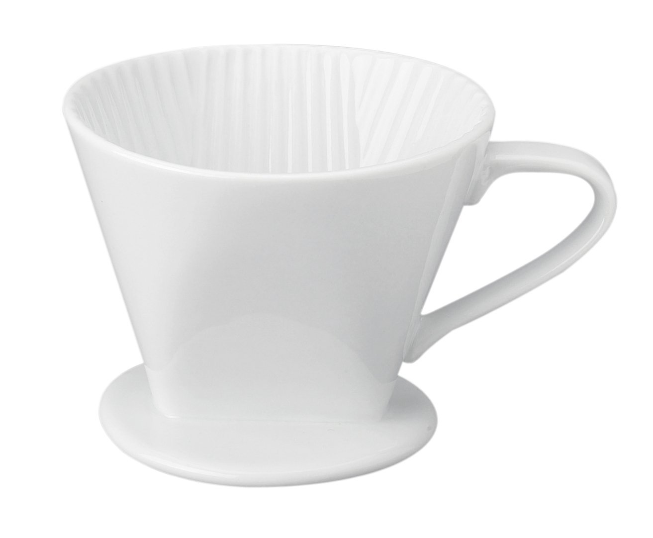 HIC Harold Import Co. HIC Filter Cone, Porcelain, Number 2-Size Filter, Brews 2 to 6-Cups