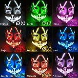 Halloween Máscara LED Ligero Gracioso Máscaras Estupendo Festival Cosplay Disfraz Suministros Fiesta Máscaras Brillan en la