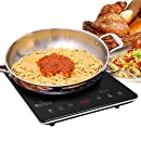 "Secura DUXTOP UltraThin Full Glass Top Portable Sensor Touch Induction Cooktop Countertop Burner, Black, 14.5"" x 11.5"" x 1.75"""