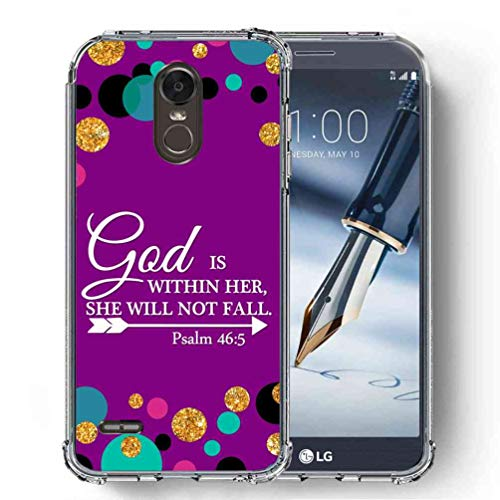 for LG Stylo 3 Case, LG Stylo 3 Plus Case, LG Stylus 3 Case, LG LS777 Case, SuperbBeast Ultra Slim Thin Protective Case w/Reinforced Corners Vector Floral Flowers Polka Dots -