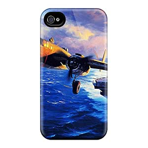 Tpu Case Cover For Iphone 4/4s Strong Protect Case - B25 Mitchell Going To Bomb Japan Design