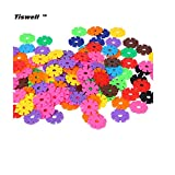 Tiswell Snowflake Shape Blocks Snowflakes Connect Reusable Colorful Building Blocks Toys - Great Imagination Toy for 3-10 Years Olds - for Boys and Girls (100pcs)