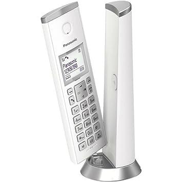 Panasonic KX-TGK210 - Teléfono fijo inalámbrico de diseño (LCD, identificador de llamadas, agenda de 50 números, bloqueo de llamada, modo ECO), ...