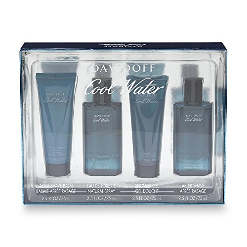 4 Pieces Colognes Set for Men (Cool Water Spray After Shave Balm)