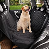 Cheap acelitor Deluxe Dog Seat Covers For Cars,Dog Car Seat Hammock Convertible,Universal Fit,Extra Side Flaps,Exclusive Nonslip,Waterproof Padded Quilted,black08