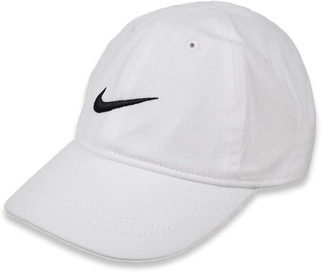 Nike Kids' Swoosh Adjustable Hat (White(7A2319-001)/Black, 2-4T)