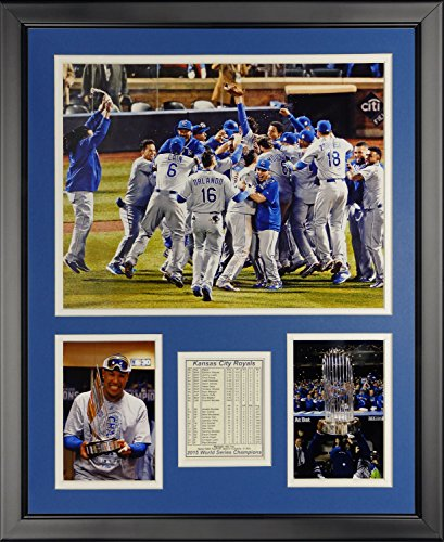 MLB Kansas City Royals 2015 World Series Champions Celebration Framed Photo Collage, 16