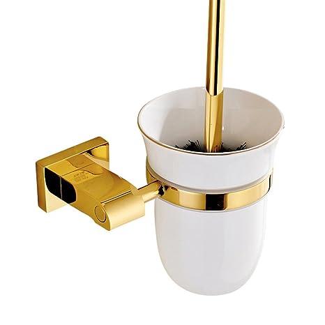 Weare Home Poliert Gold Finished Design Modern Luxus Deko Badezimmer Accessoires Wandhalterung Wandmontag Bohren Messing Toilettenburstenhalter Mit